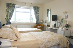 Our Twin Bedroom has twin beds and en-suite bathroom with shower.